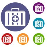First aid kit icons set Royalty Free Stock Photo