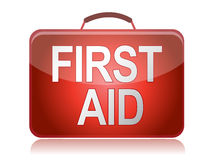First aid kit illustration design. On blank background Stock Photo