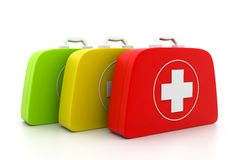 First aid kit. On isolated background Royalty Free Stock Photo