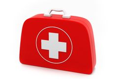 First aid kit. On isolated background Stock Photo