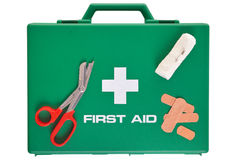 First Aid kit isolated with clipping path Stock Image
