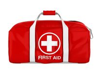 First Aid Kit Isolated. On white background. 3D render Stock Images