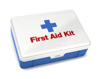 First Aid Kit Isolated on White. With Clipping Path Royalty Free Stock Photo