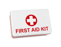 First aid kit. Isolated on white Stock Photography
