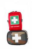 First aid kit isolated on white Royalty Free Stock Image