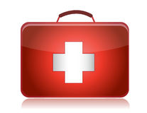 First aid kit isolated on white background Royalty Free Stock Images