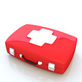 First aid kit isolated on white background. Illustration Royalty Free Stock Photography