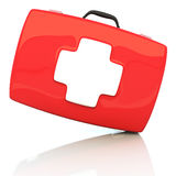 First aid kit isolated on white background. 3d illustration Stock Photos