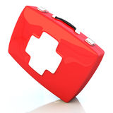 First aid kit isolated on white background. 3d illustration Stock Images