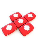 First aid kit isolated on white background. 3d illustration Royalty Free Stock Photography