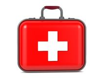 First Aid Kit. First Aid Kit Isolated on a White Background Stock Photo