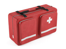 First aid kit isolated. At the white background Stock Photography