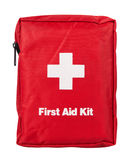 First Aid Kit. Isolated on white background Royalty Free Stock Photography