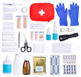 First aid kit isolated on white Royalty Free Stock Images