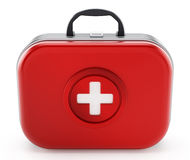 First aid kit isolated on white background. 3D illustration.  Stock Image