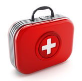 First aid kit isolated on white background. 3D illustration.  Royalty Free Stock Photos