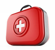 First aid kit isolated on white background. 3D illustration Royalty Free Stock Image