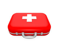 First Aid Kit. Isolated on white background. 3D render Stock Photos