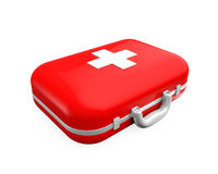First Aid Kit. Isolated on white background. 3D render Stock Images