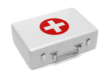 First aid kit isolated on white background. 3d render of first aid kit isolated on white background Royalty Free Stock Image