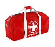 First Aid Kit Isolated. On white background. 3D render Royalty Free Stock Photos