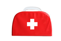 First-aid kit. First aid kit isolated on white background Royalty Free Stock Photography