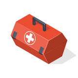 First aid kit isolated on white background. Isometric  illustration Royalty Free Stock Photos