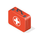First aid kit isolated on white background. Isometric  illustration Stock Images