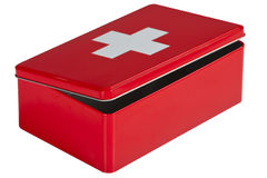 First aid kit isolated on white background Stock Photography