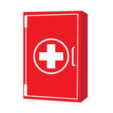 First aid kit. Isolated first aid kit on a white background, Vector illustration Royalty Free Stock Image