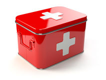 First aid kit isolated on white. Royalty Free Stock Photo