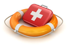 First Aid Kit in Lifebuoy Royalty Free Stock Photography