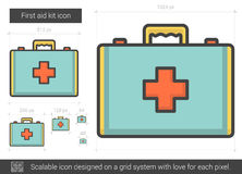First aid kit line icon. First aid kit vector line icon  on white background. First aid kit line icon for infographic, website or app. Scalable icon designed on Stock Images