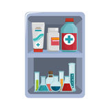 First aid kit medical equipment. Vector illustration eps 10 Stock Image