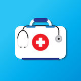 First aid kit, medical kit. Medical equipment Design Simplicity, illustration icon Royalty Free Stock Photography