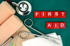 First Aid Kit, Medical Supply, Medical Emergency. Royalty Free Stock Photo