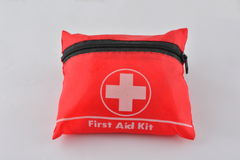 First aid kit. A first aid kit for minor injuries Royalty Free Stock Image