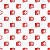 First aid kit pattern, cartoon style. First aid kit pattern. Cartoon illustration of first aid kit vector pattern for web Royalty Free Stock Images