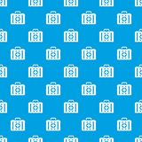 First aid kit pattern seamless blue. First aid kit pattern repeat seamless in blue color for any design. Vector geometric illustration Royalty Free Stock Photography