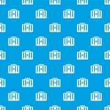 First aid kit pattern seamless blue. First aid kit pattern repeat seamless in blue color for any design. Vector geometric illustration Royalty Free Stock Image