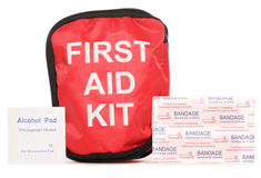 First aid kit with plasters Royalty Free Stock Photo