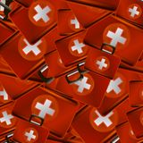 First Aid Kit Random Seamless Pattern. Medical Texture Royalty Free Stock Image
