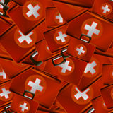 First Aid Kit Random Seamless Pattern. Medical Texture Royalty Free Stock Photo