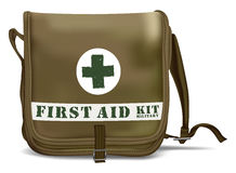First Aid Kit Shoulder Bag. Medical Equipment Stock Photos