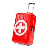 First Aid Kit Suitcase. 3d Rendering. First Aid Kit Suitcase on a white background. 3d Rendering Stock Images