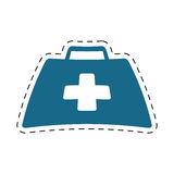 First aid kit suitcase emergency clinic cut line. Illustration eps 10 Stock Photo