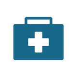 First aid kit suitcase emergency clinic. Illustration eps 10 Royalty Free Stock Photography