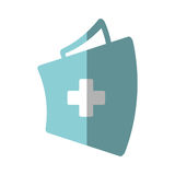 First aid kit suitcase emergency clinic shadow. Illustration eps 10 Royalty Free Stock Photography