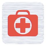 First Aid Kit Symbol and Medical Services Icon. Vector illustration Royalty Free Stock Photography