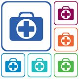 First Aid Kit Symbol and Medical Services Icon. Vector illustration Stock Image